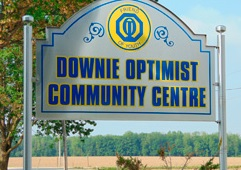 Picture of the Downie Optimist Hall Sign