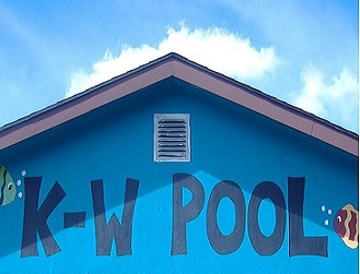 Picture of the front of the Kirkton-Woodham Pool Building